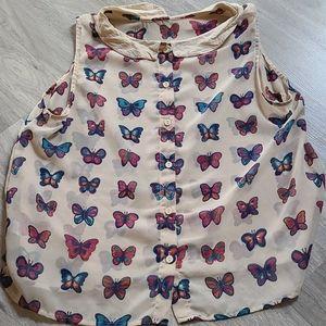 Sleeveless Butterfly Top